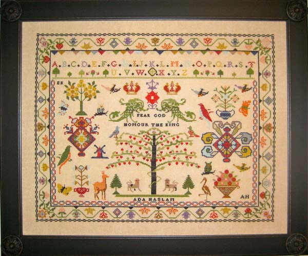 Ada Haslam, an English reproduction sampler
